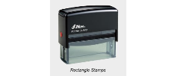 Shiny Printer Rectangle Stamps