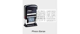 Shiny Printer Phrase Stamps