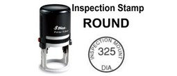 Round Inspector Stamps