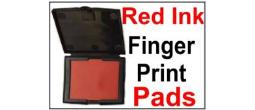 Red Fingerprint Ink Pads