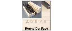 Round Face-Dot Design Steel Stamp Sets