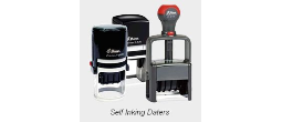 Self Inking Daters, Custom & Stock