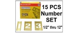 Brass 15 Piece Single Number Set