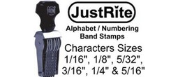 Justrite Alphabet or Numbering Stamps