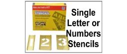 Individual Brass Interlocking Stencils