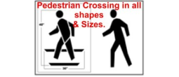 Pedestrian Crossing Stencils, Many shape and sizes to choose from