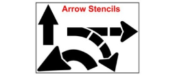 Arrow Stencils, U-Turn, Turning, Striat and so much more