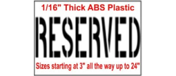 Reserved Stencils, Many shape and sizes to choose from