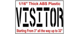 Visitor Stencils, Many shape and sizes to choose from