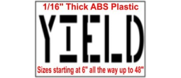 Yield Stencils, Many shape and sizes to choose from