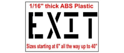 EXIT Stencils, Many shape and sizes to choose from