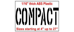 COMPACT Stencils, Many shape and sizes to choose from