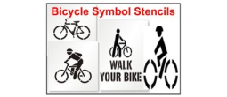 Bicycle Symbol Stencils, Many shape and sizes to choose from