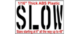 Slow Stencils, Many shape and sizes to choose from
