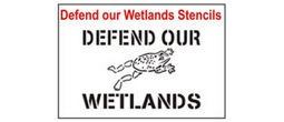 Defend our Wetlands Stencil Sets, Qty. 1, 10 and 50 Pack