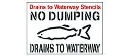Drains to Waterway Stencil Sets, Qty. 1, 10 and 50 Pack