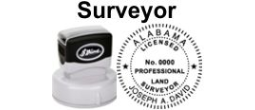Pre-Inked Land State Surveyor Seals