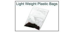 Lightweight 2 mil Plastic Ziplock