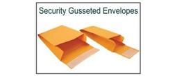Kraft Paper Evidence Security Envelopes - Gusseted