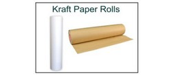 Kraft Paper Roll - White & Brown