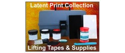 Complete Latent Print Collection, Lifting Tapes, Gel Lifters, Etc.