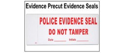Police Evidence Seals - Precut Polymatte