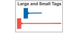 Tags - Large and Small Plastic Evidence Straps