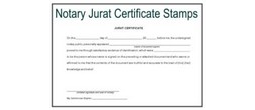 Notary Jurat Certificate Stamps