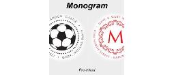 Designer & Monogram Pre-Inked Stamps