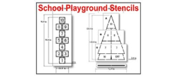 Playground and School Stencils, Many shape and sizes to choose from