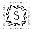 Custom Monogram Square Address Stamp