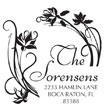 Custom Floral Monogram Address Stamp