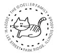 Custom Cat Design Monogram Address Stamp