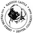 Custom Pug Dog Monogram Address Stamp