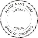 Colorado Notary Embosser Notary Public Seal Colorado Notary Public Embosser