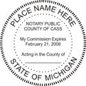 Michigan Notary Embosser
