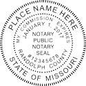 Missouri Notary Embosser Missouri State Notary Public Seal Missouri State Notary Seal Missouri Notary Public Embossing Seal Missouri Notary Public Seal