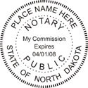 North Dakota Notary Embosser