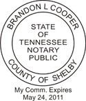 Tennessee Notary Embosser Tennessee State Notary Public Seal Tennessee Notary Public Seal Notary Public Seal