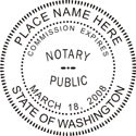 Washington Notary Embosser