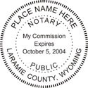 Wyoming Notary Embosser