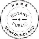 Newfoundland Notary Embosser