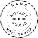 Nova Scotia Notary Embosser Nova Scotia Notary Public Embossing Seal