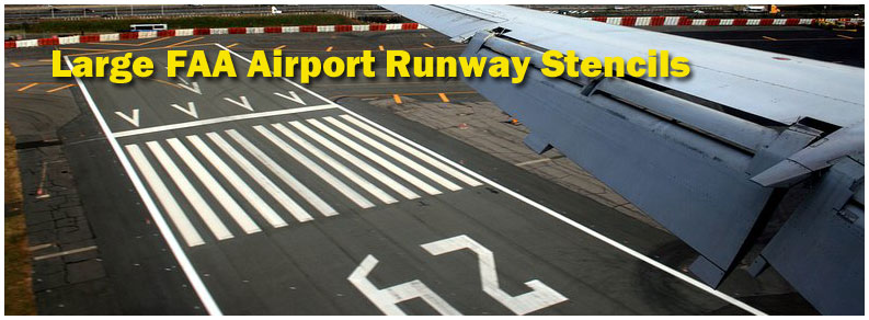 FAA Airport Taxiway Stencils Large Fed Spec Stencils Federal Specification (MUTCD) Stencils MUTCD Stencils