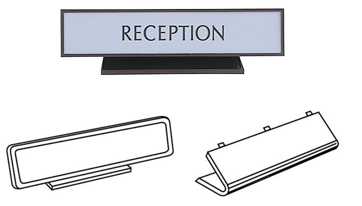 Plastic Frames, Rounded Corner Nameplate Frames Nameplate Holders Engraved Signs Engraving Nameplates Name Badges Vinyl Lettering Vinyl Signs