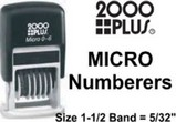 2000 Plus Micro Numbering Stamps