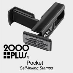 2000 Plus Self-Inking Pocket Rubber Stamps