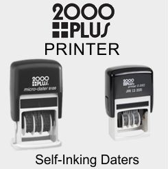 2000 Plus Printer Self-Inking Daters