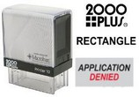 2000 Plus Rectangle Rubber Stamps