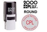 2000 Plus Round Rubber Stamps